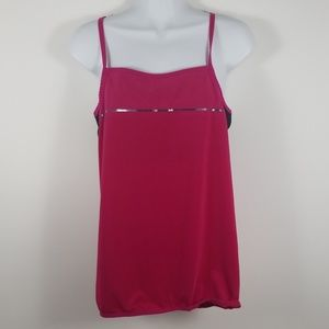 Nike's Dry Fit Pink Women Athletics Top Sz Large